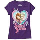 Disney Frozen Anna Elsa Sisters Forever Girl Purple T Shirt Tee