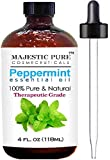 Majestic Pure Therapeutic Grade Peppermint Essential Oil, 4 Oz. With Dropper