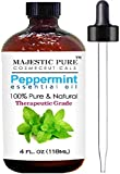 Majestic Pure Therapeutic Grade Peppermint Essential Oil, 4...