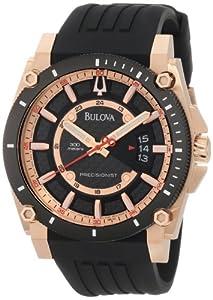 Bulova Men's 98B152 Precisionist Champlain Rubber Strap Watch