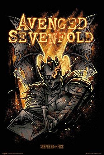 Empire Merchandising 662 613 Avenged Sevenfold, Pastore del Fuoco Musica Poster Gothic Metal Hard Rock, dimensioni 61 x 91.5 cm