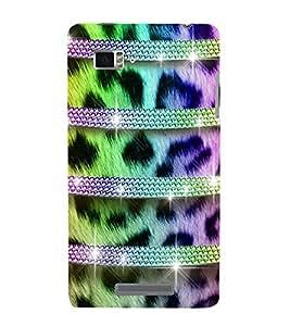 horzontal stripped multicoloured pattern 3D Hard Polycarbonate Designer Back Case Cover for Lenovo Vibe Z K910