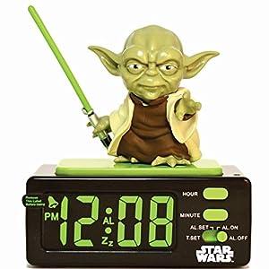 star wars 15204 yoda alarm clock electronics. Black Bedroom Furniture Sets. Home Design Ideas