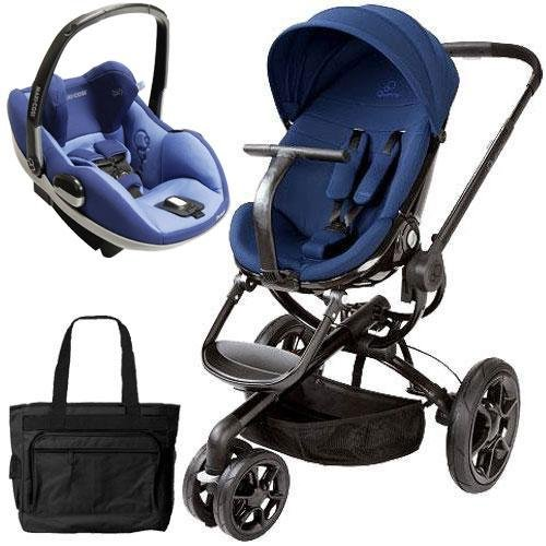 Quinny Cv078Bfp Moodd Prezi Travel System With Diaper Bag And Car Seat - Blue Reliance front-698639