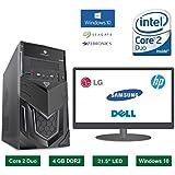 Desktop Computer - Intel Core 2 Duo Processor / 21.5 Inch LED Monitor / 4GB Ram / Windows 10 Pro (320 GB HDD, None)