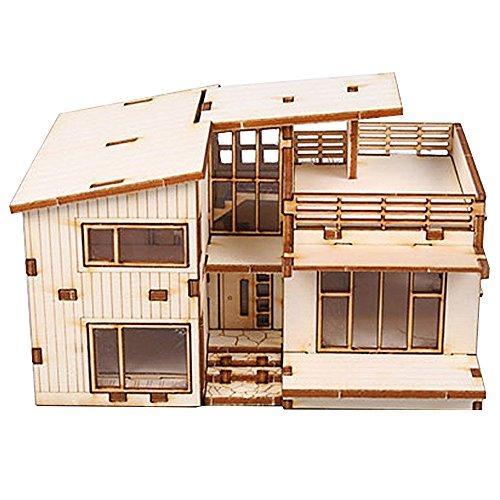 Desktop Wooden Model Kit Modern House New Ebay