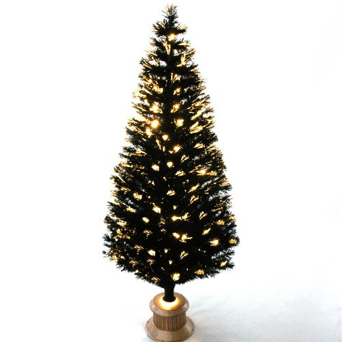 Black Fibre Christmas Optic Tree, 6Ft