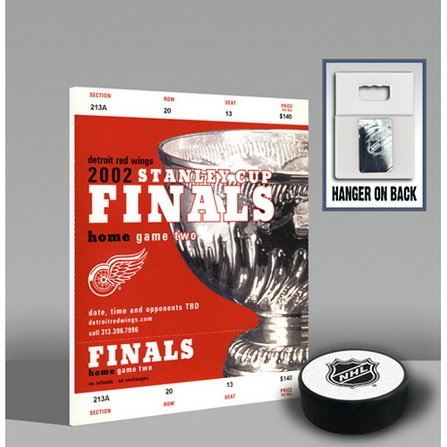 2002 Stanley Cup Mini-Mega Ticket -Detroit Red Wings-By BlueTECH