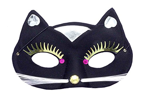 Forum Novelties Women's Kitty Cat Half Mask, Black, One Size