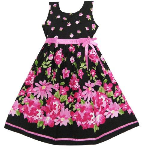 Девушки платье ярко-розовый цветок пояс…