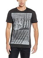 Gas Jeans Camiseta Manga Corta (Negro Lavado)