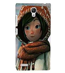 PRINTSWAG CARTOON GIRL Designer Back Cover Case for XIAOMI REDMI NOTE PRIME
