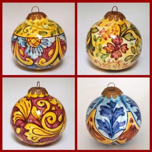 Buy Hand Painted Italian Ceramic 3.5-inch Christmas Balls