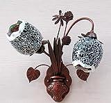 Europäische Lampe vase Blume Mosaik Cafe Flur Schlafzimmer Kopfteil eisentreppen Wandleuchte