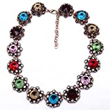 Girl Era Colorful Gems Of Stars Choker Necklace Charm Necklace For Womens