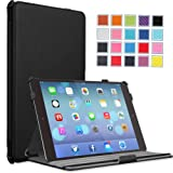 MoKo Apple iPad Air Case – Slim-Fit Case with Stand for iPad 5 Air (5th Gen) Tablet, BLACK (With Smart Cover Auto Wake / Sleep)