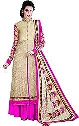 Kaarvaan Women's Silk Unstitched Dress Material(VFP 9005_Pink_FreeSize)