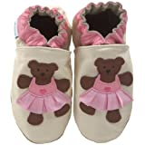 Robeez Soft Soles Kids' Ballerina Bear Crib Shoe,Cream,12-18 Months (4.5-6 M US Toddler)