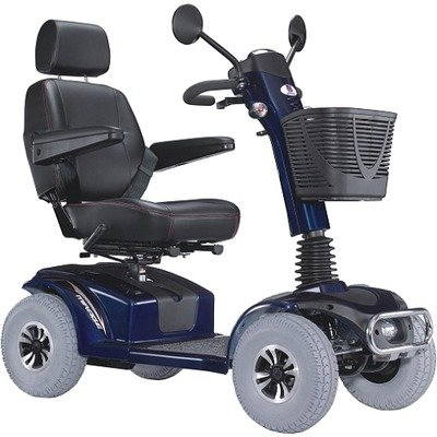 """Pf6K Mirage K Electric 4 Wheel Power Scooter With 20"""" Captain Seat Top Speed 7.5 Mph In Blue Warranty: 1-Year-In-Home Labor Warranty"""