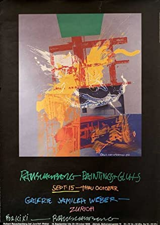 Robert Rauschenberg: Paintings + Gluts 1988 Original USA Movie Poster