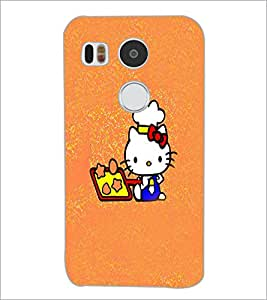 PrintDhaba Kitty D-5555 Back Case Cover for LG NEXUS 5X (Multi-Coloured)