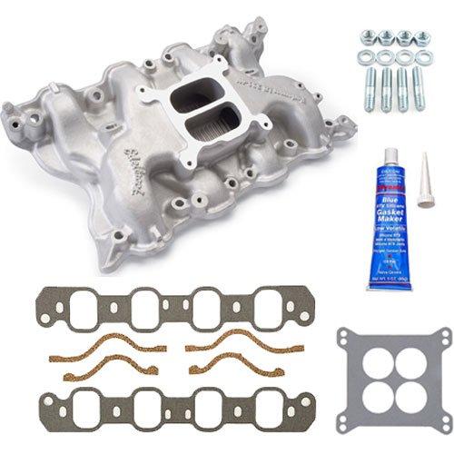 Edelbrock 2665K Performer 351-4V Cleveland Intake Manifold w/Installation Kit (Edelbrock 1407 Carburetor compare prices)