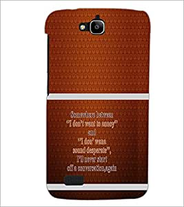 PrintDhaba Quote D-1320 Back Case Cover for HUAWEI HONOR HOLLY (Multi-Coloured)