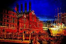 Original Baltimore Art - Power Plant Noir, Inner Harbor