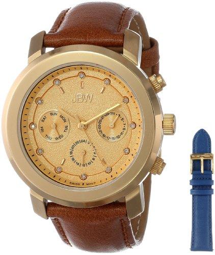 JBW Women's J6276-setA Interchangeable Bold Diamond Leather Band Watch Set