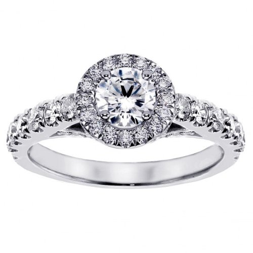 Where Can I Buy 1.65 CT TW Brilliant Cut Large Diamonds Engagement Ring in 14k White Gold – Size 6