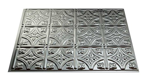 Fasade Easy Installation Traditional 1 Brushed Aluminum Backsplash Panel for Kitchen and Bathrooms (18