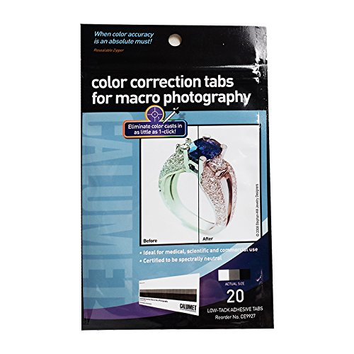 One Pack of 20 Adhesive Color Correction Tabs for Macro Photography (Photography Color Chart compare prices)