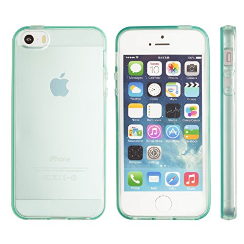 iPhone 5S case, Totallee Revealer, Flexible Soft Slim Jelly Transparent TPU Cover for iPhone 5 5S SE (Mint) (Iphone5 Jelly Case compare prices)