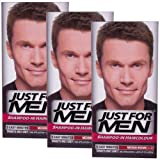 3 x Just For Men Shampoo In Hair Colour Multi Pack - 8 Shades Available (Medium Brown H35)