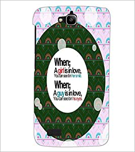 PrintDhaba Quote D-4455 Back Case Cover for HUAWEI HONOR HOLLY (Multi-Coloured)