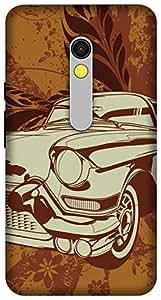 The Racoon Lean printed designer hard back mobile phone case cover for Motorola Moto X Play. (vintage ri)