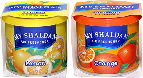 Auto Car Winner My Shaldon Lemon and Orange Gel Combo Air freshner for Car/Home(1 My Shaldon Lemon & Orange Air Freshner Gel)