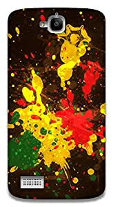 The Racoon Lean Rasta Splash hard plastic printed back case / cover for Huawei Honor Holly