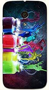 Amazing multicolor printed protective REBEL mobile back cover for Motorola Moto G (2014) 1st Gen D.No.N-T-1840-MG1