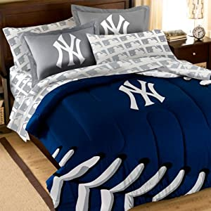 7pc MLB New York Yankees Baseball Full Bedding Collection by MLB