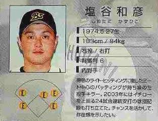 BBH1 白カード 塩谷和彦(オリックス)