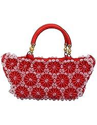 Virali Rao Women's Hand-held Bag, Red And White
