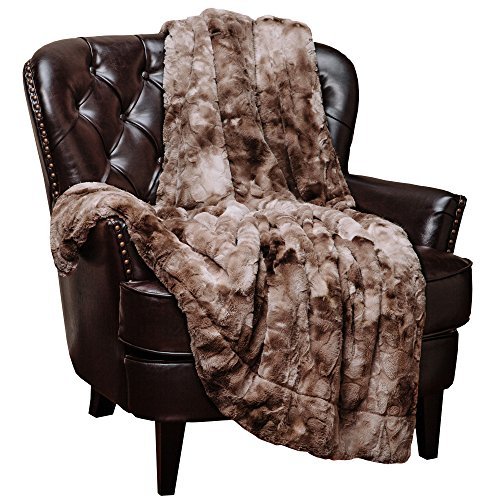 Why Choose Chanasya Super Soft Fuzzy Fur Warm Beige Sherpa Throw Blanket 70x60-Beige Waivy Fur Pat...