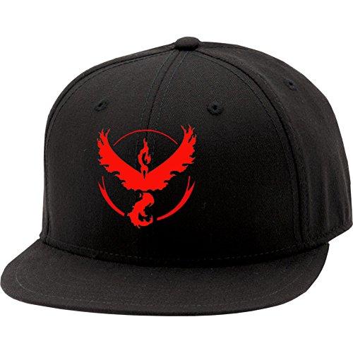 Xcoser Pokemon Go Hat Baseball Cap Team Valor Black Hat Red (Red Pokemon Hat compare prices)