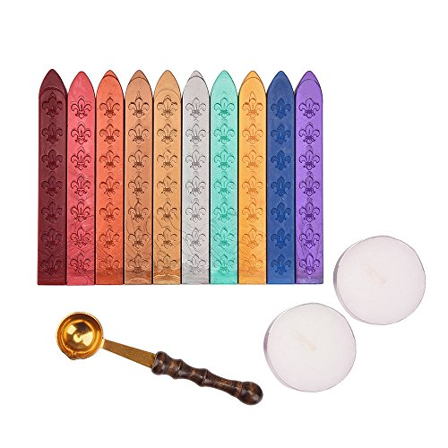 Outus Antique Sealing Wax Sticks Set without Wicks Retro Spoon and Candles for Retro Vintage Wax Seal Stamp, 13 Pieces (Seal Wax Set compare prices)