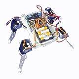 8軸4足ロボット組み立て用キット(アルミ原色)