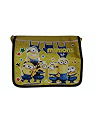 Wise Guys Cartoon Print Sling Bag For Kids - Yellow