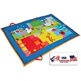 Taf Toys Touch Mat Supersize Padded Playmat Activity Play Mat With Baby Safe Mirror, Plastc Rings, Teether And...