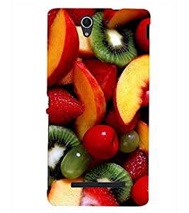 PRINTSHOPPII FRUITS Back Case Cover for Sony Xperia C3 Dual D2502::Sony Xperia C3 D2533
