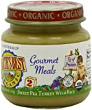 Earth's Best Organic Gourmet Meals Baby Food, Sweet Pea Turkey Wild Rice, 4 Ounce (Pack of 12)
